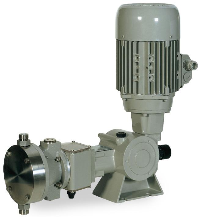 Pompa a Membrana Idraulica - Ritorno a Molla  - Serie SR tipo B&BR - B 175 N
