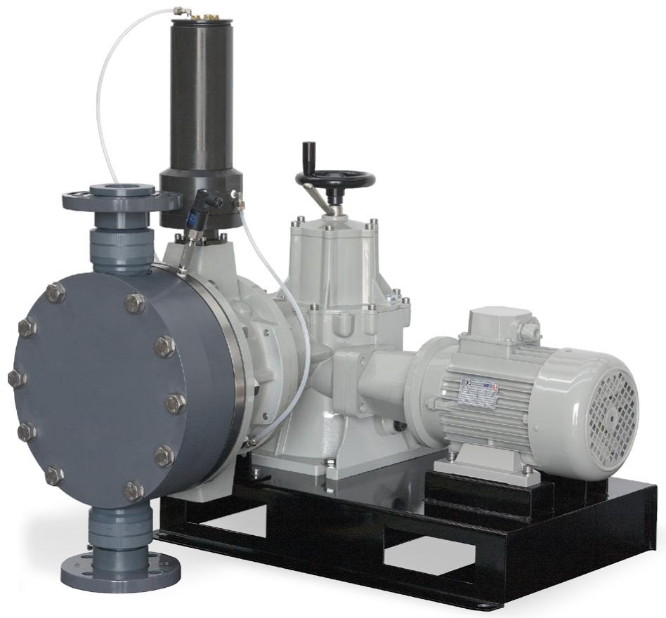 Pompa a Doppia Membrana Idraulica - Ritorno Positivo - Serie PDP tipo SDI - SD I 350